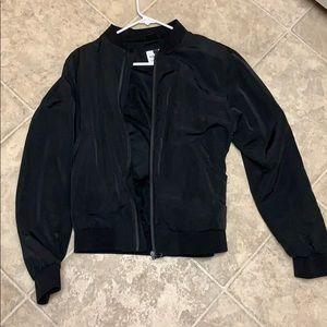 Topman men's size medium black bomber jacket new